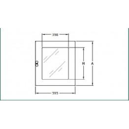 Άνω πόρτα Plexiglass 595x927mm για καμπίνα ύψους 2000mm