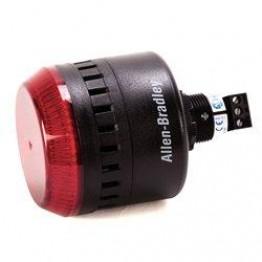 Φαροσειρήνα κόκκινη Φ22mm 24V AC/DC, διαμέτρου 65mm